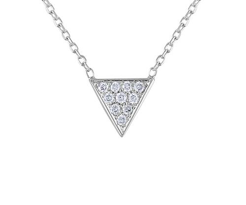 Unique Triangle Diamond Necklace