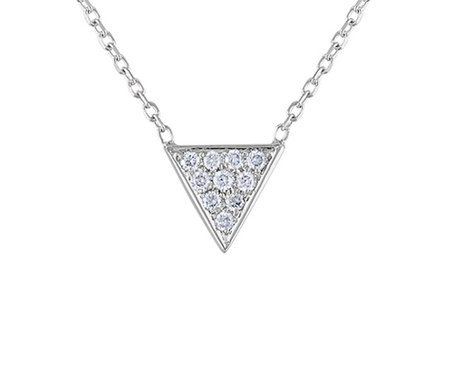 Unique Triangle Diamond Necklace