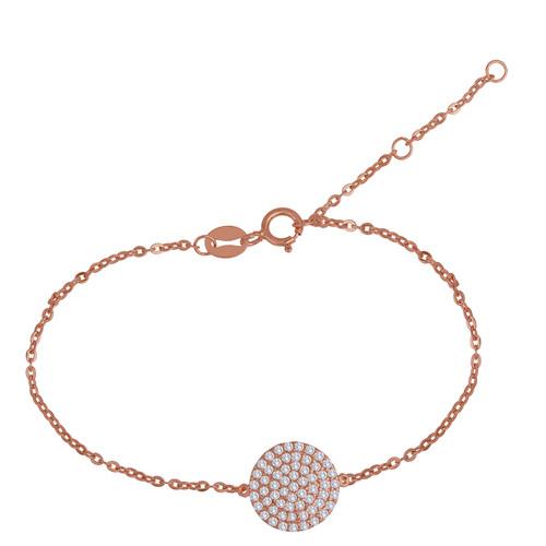 Rose Gold Unique Hand Crafted Pave Bracelet
