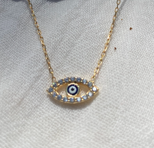 Exquisite Evil Eye Gold Necklace