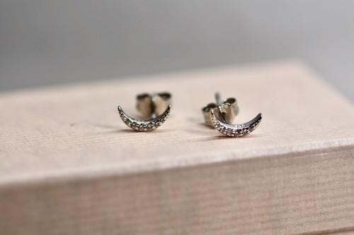 Sterling Silver Diamond Earring