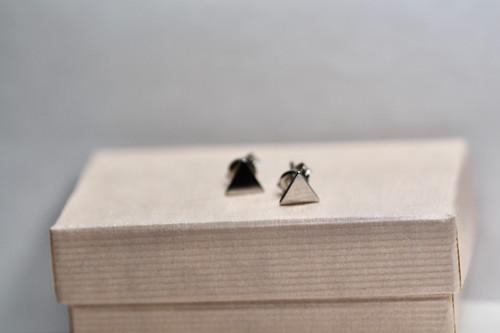 Sterling Silver Triangle Stud Earring