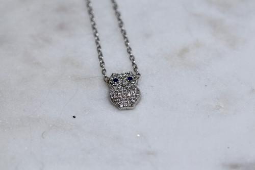 Unique and Exquisite Owl Diamond Necklace