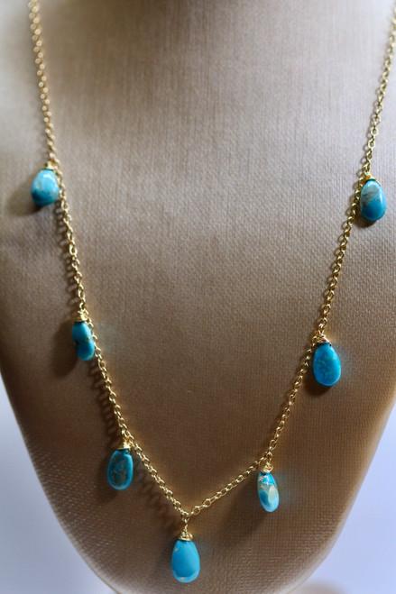 Sleeping Beauty Turquoise Gemstone Necklace