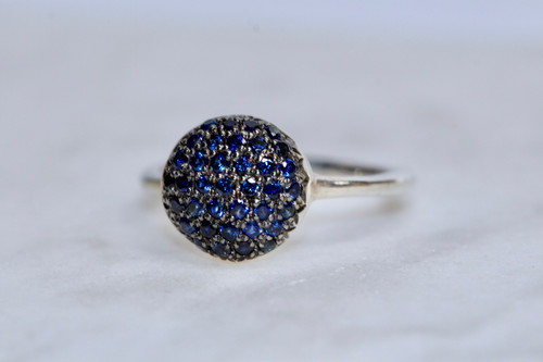 Unique Sterling Silver Sapphire 925 Ring