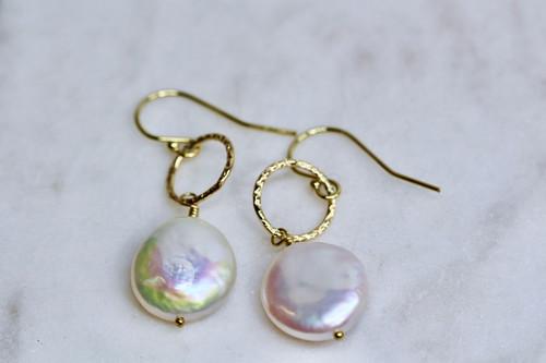 Handmade Gold Pearl Earring