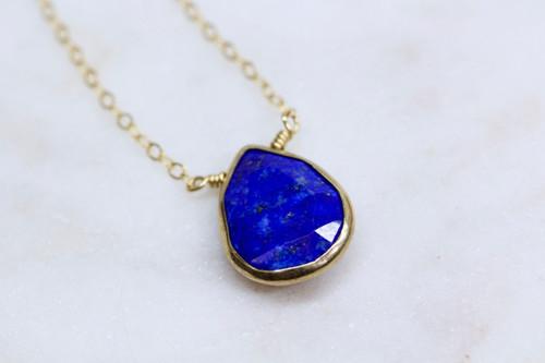 Unique Blue Gemstone Pendant