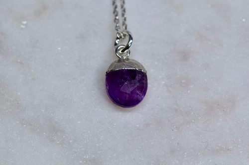 Handmade Sterling Silver 925 Amethyst Necklace