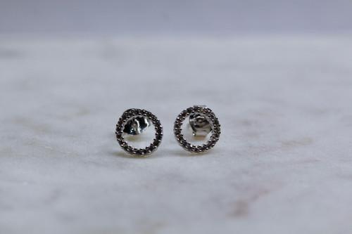 Sterling Silver 925 Diamond Earring