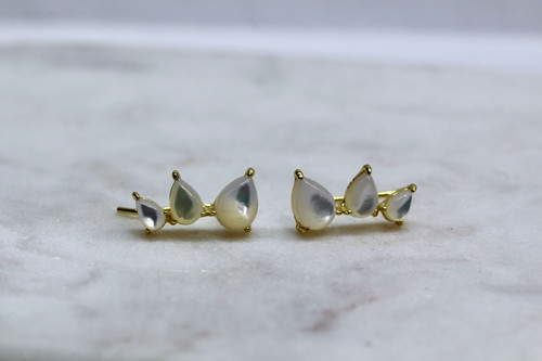 Handmade 14K Yellow Gold Ear Climber