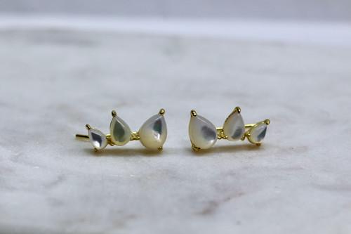 Handmade 14K Yellow Gold Ear Climber
