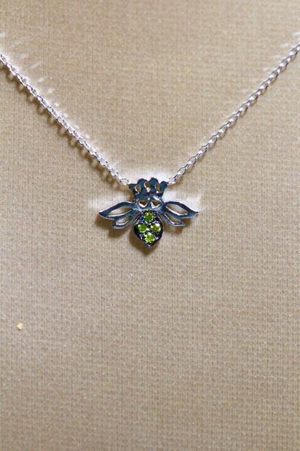 Yellow Diamond Bee Necklace