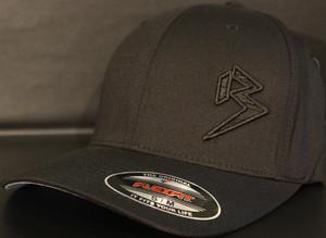 BLITZ Hat Black/Black/Black on all Black Curved Bill Sku # 0251C-010101