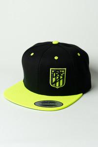 Ballz Racing Shield Snapback - BLACK/NEON YELLOW Hat