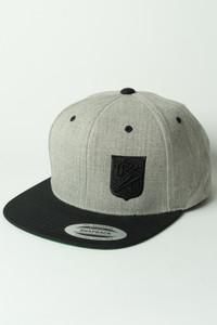 Ballz Racing Shield Snapback - HEATHER GREY/BLACK Hat
