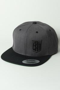 Ballz Racing Shield Snapback - DARK HEATHER/BLACK PREMIUM Hat