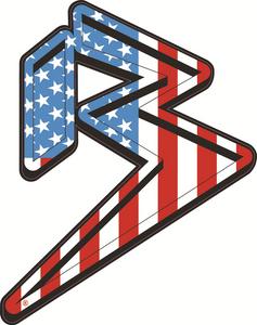FREEDOM B LOGO STICKER RED/WHITE/BLUE