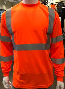 Class 3 High-Visibility ORANGE Long Sleeve T-Shirt