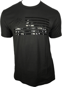 B FLAG TEE BLACKED OUT