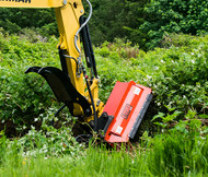 THE FLAIL BRUSH MOWER FROM ETERRA ATTACHMENTS AVAILABLE FOR EXCAVATORS EX-30, EX-40, EX-50