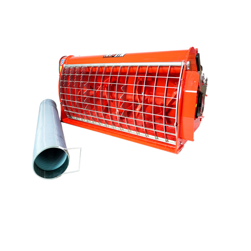 Skid Steer BMX-250 Concrete Mixer Attachment with side chute.