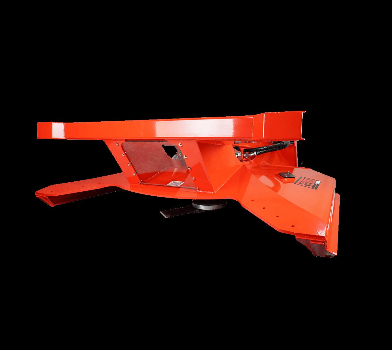 """Eterra Typhoon 74"""" Rotary Mower Skid Steer Attachment White background"""