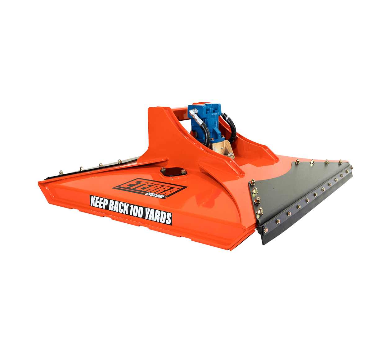 """Eterra Cyclone 48"""" Rotary Brush Mower Attachment for Skid Steers and Excavators White background"""