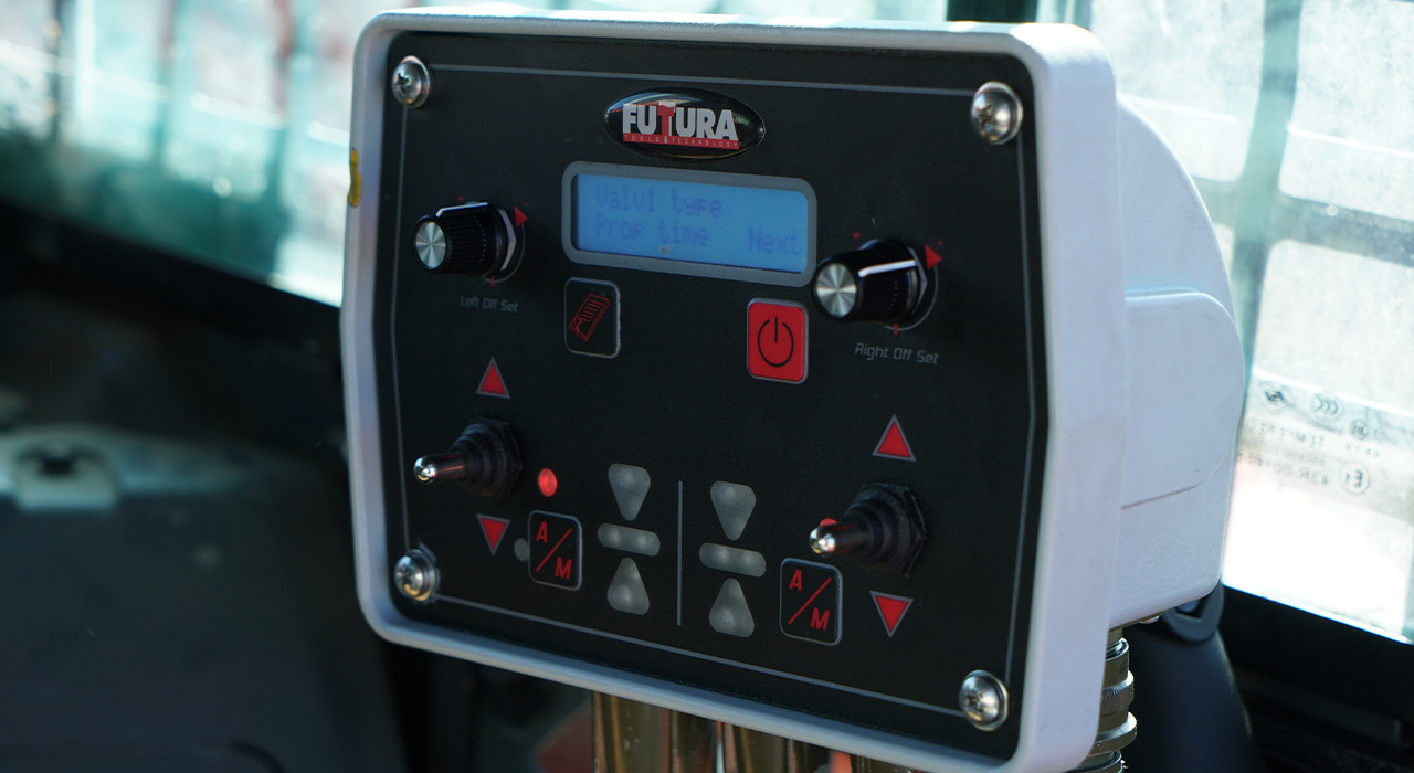 Combine your skid steer dozer grader with the futura precision laser system