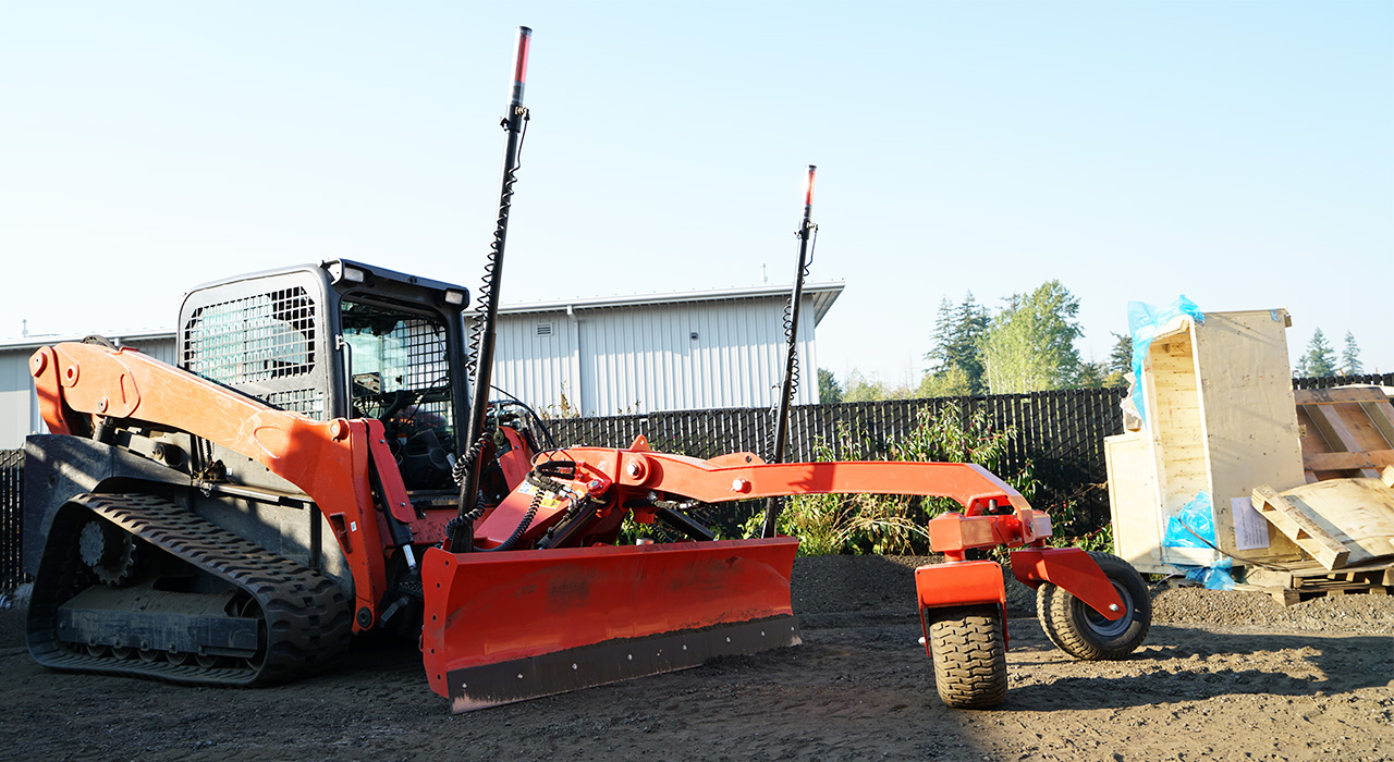 Eterra skid steer dozer grader is ready to your next grading project