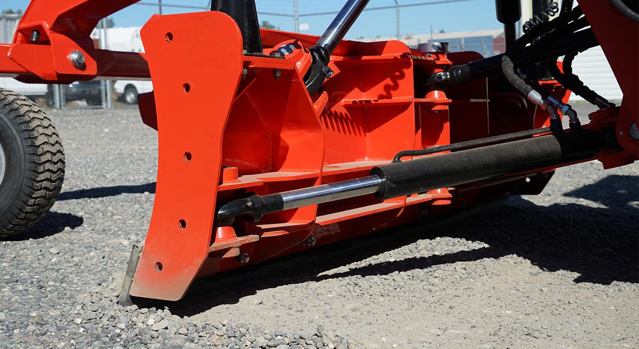 Detailed photo of the Eterra skid steer dozer grader