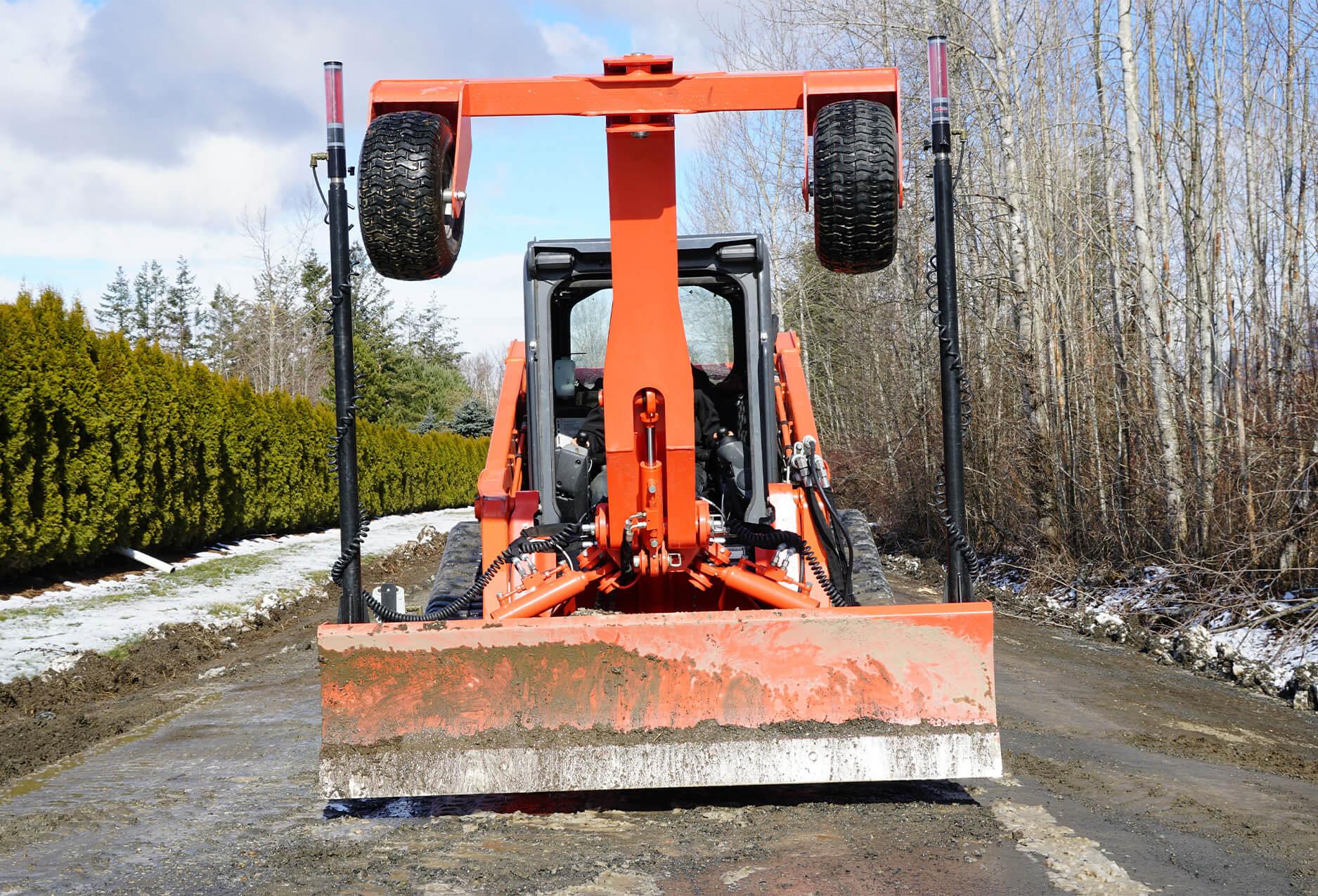 Eterra Dozer Grader Skid Steer Attachment front action road grading