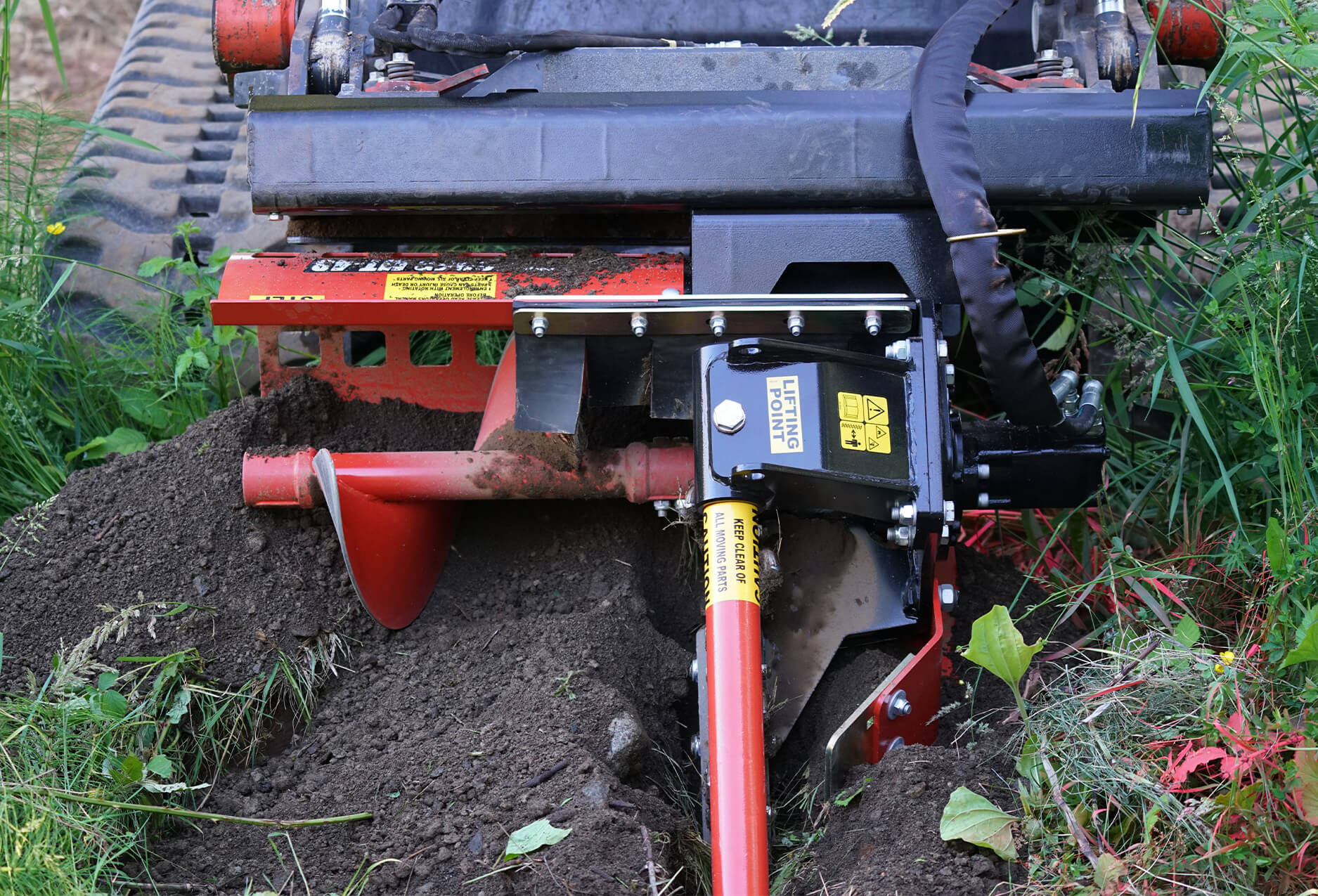 Eterra Skid Steer Trencher set at 3' depth.