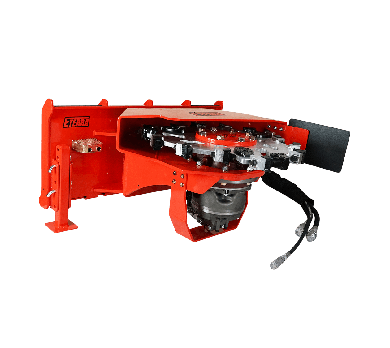 Eterra Vortex Skid Steer Stump Grinder is built to last. The Housing went through multiple iterations before it took its ultra duty form.