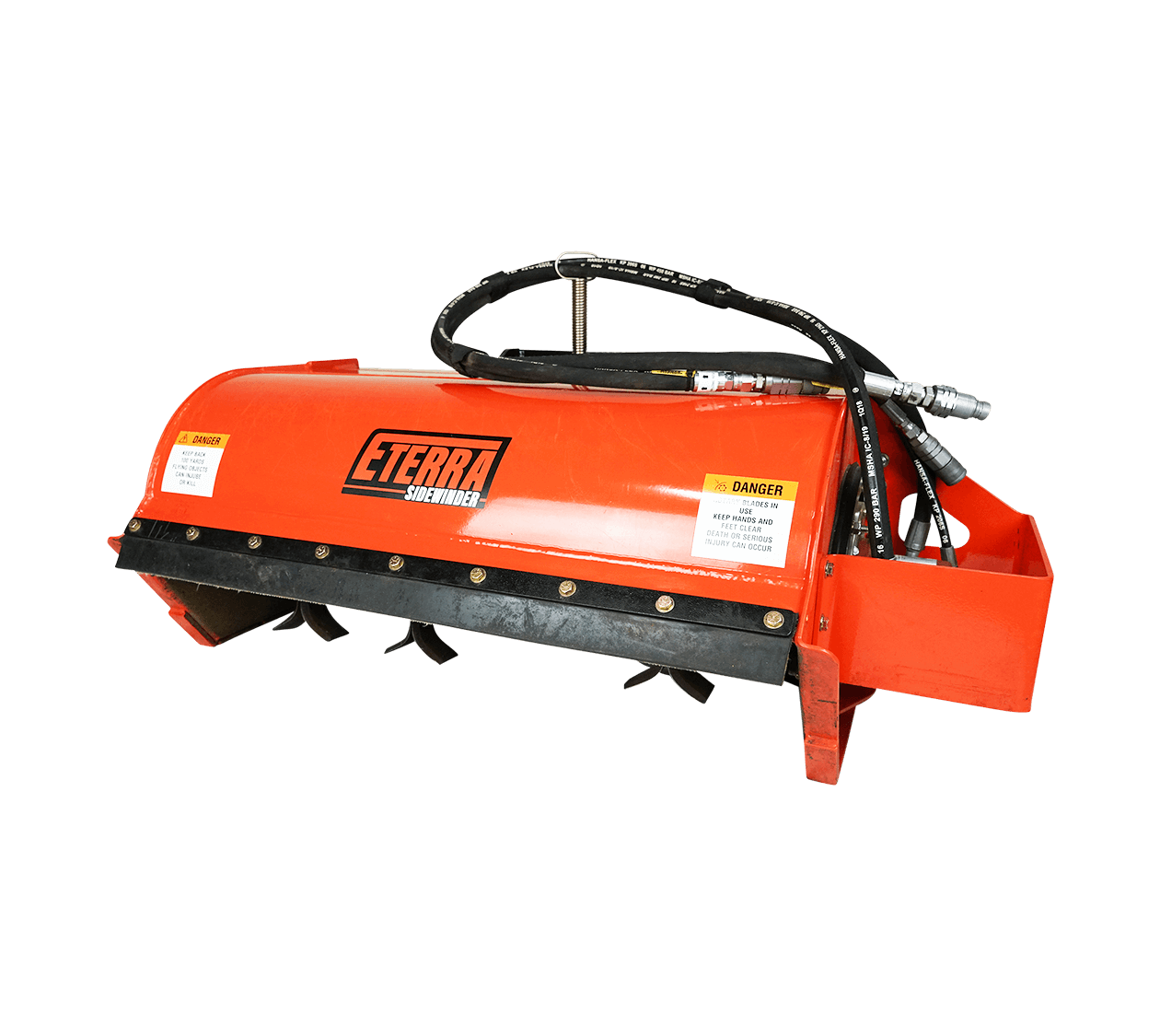 Eterra Sidewinder Mini Skid Steer flail mower white background