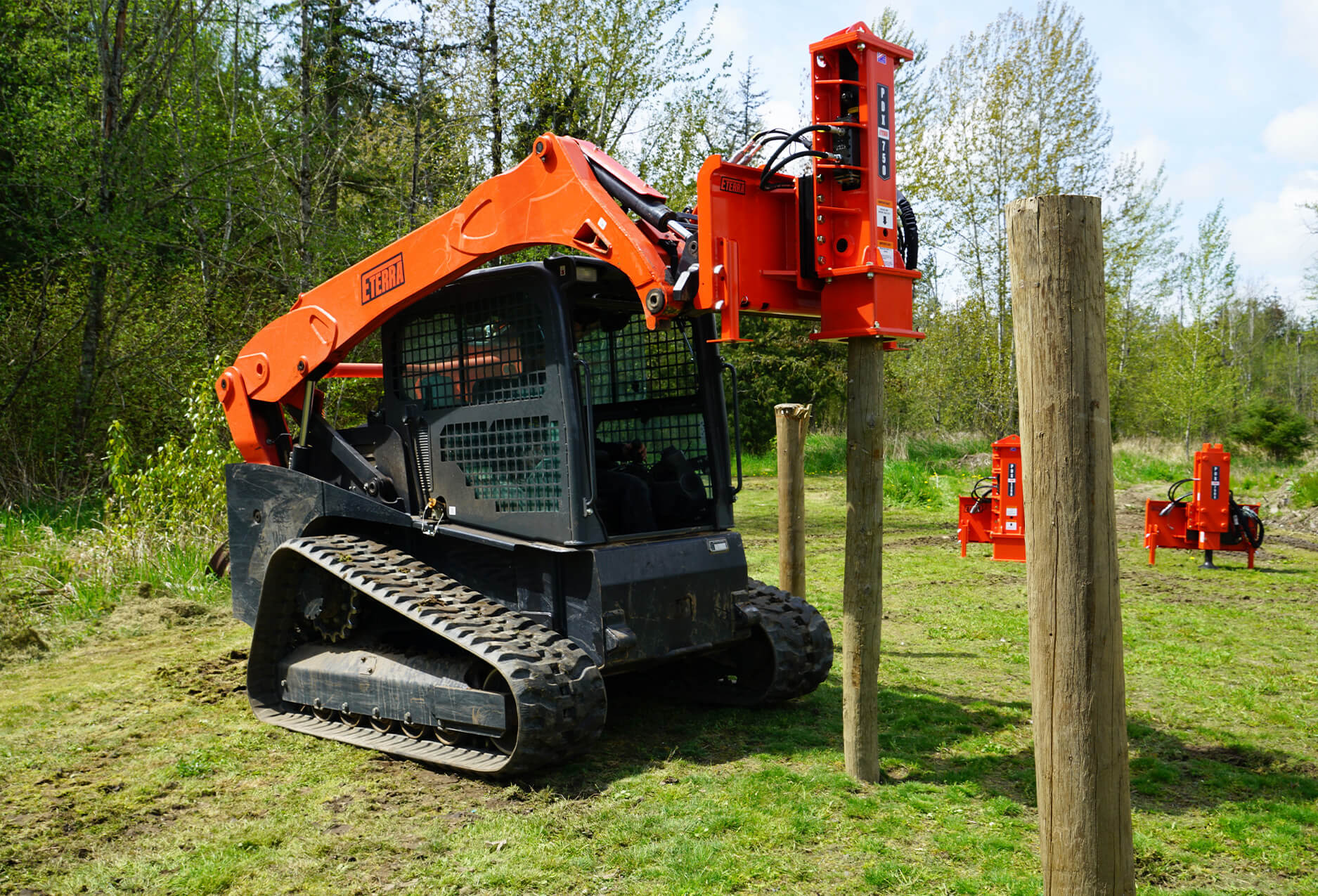 Eterra PDX-750 Post Driver Attachment action driving post