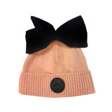 Bow Hat Tawny orange/pink