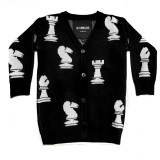 Chess Sweater Black