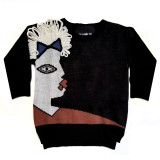 GAME FACE KNIT SWEATER