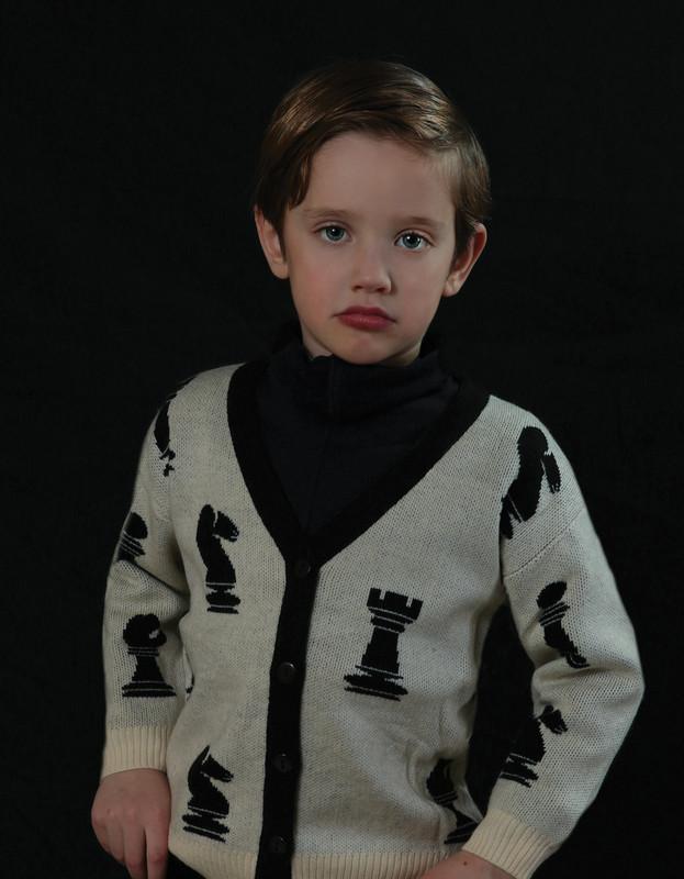 Chess Sweater Cream
