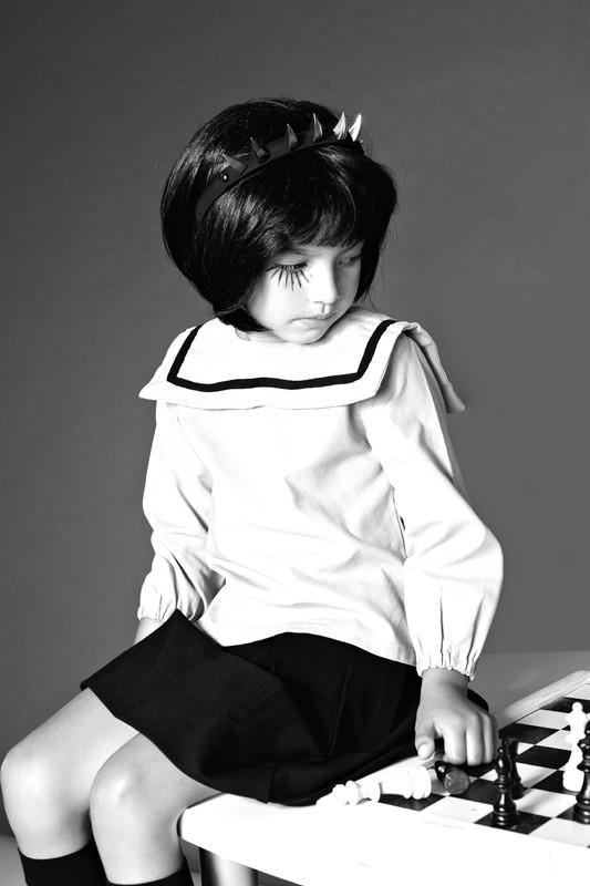SAILOR COLLAR blouse  WHITE