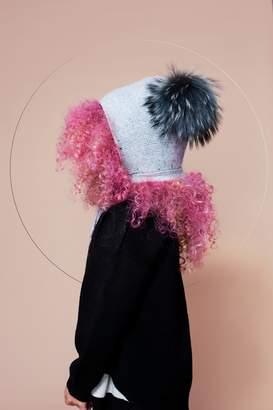 Bonnet hat with fur