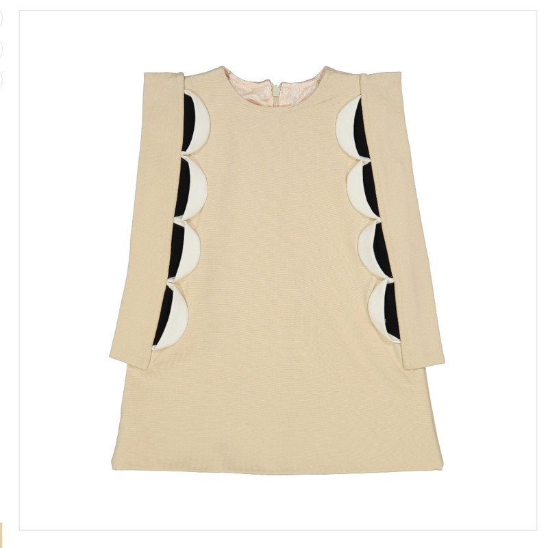Connect 4 Cream Dress