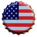Oxygen Barrier Bottle Caps (U.S. Flag)