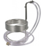 "Stainless Steel  Immersion Wort Chiller w/ vinyl tubing (3/8"" x 25')"