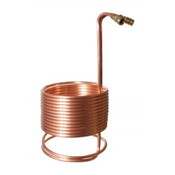 "SuperChiller Immersion Wort Chiller (50' x 1/2"") with Brass Fittings"