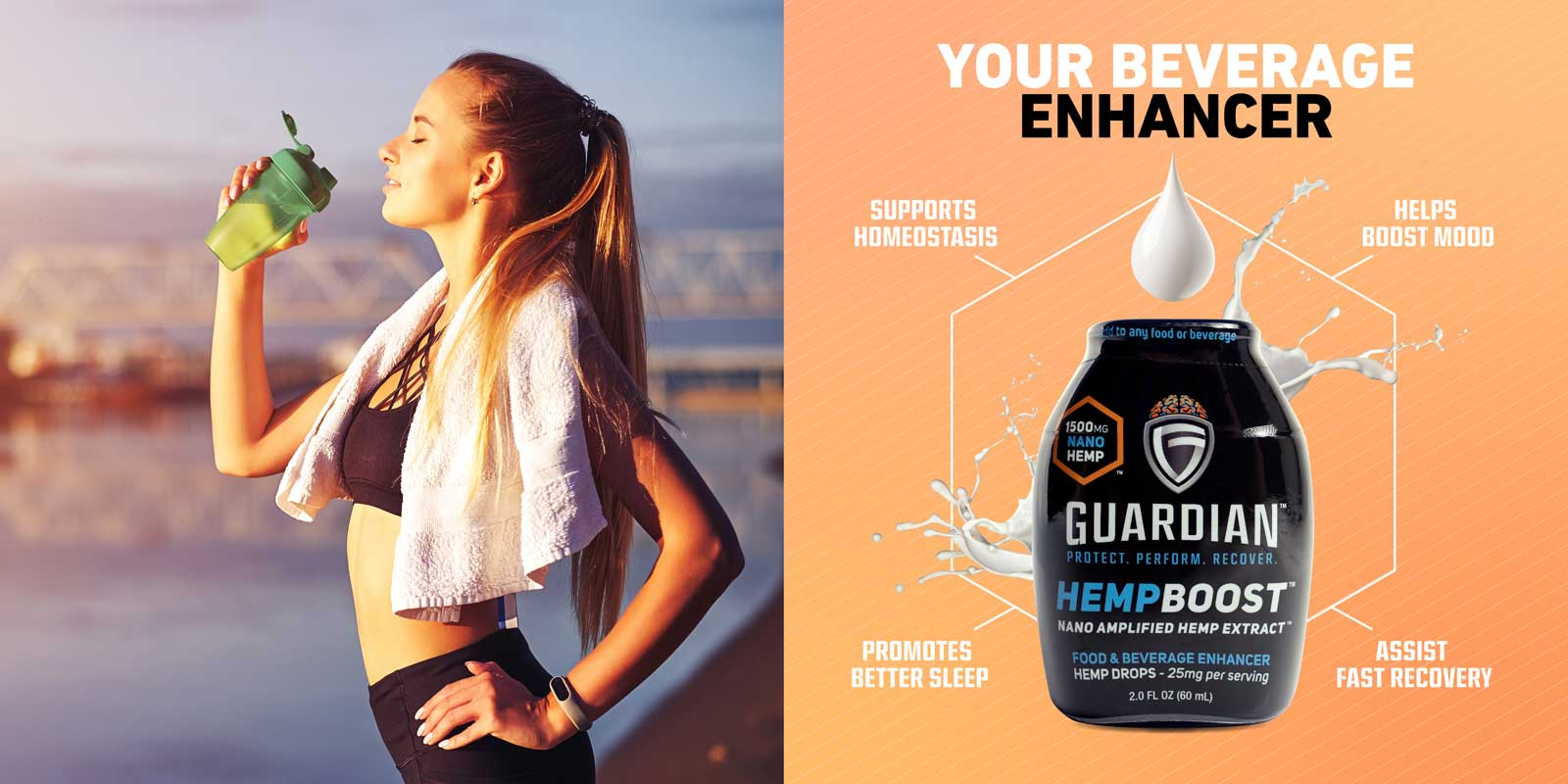 Your beverage enhancer: supports homeostasis, helps boost mood, promotes better sleep, and assist fast recovery.