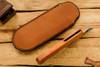 Norse Artefakt:  Skarven Friction Folder with Orange Peel Copper Handles  B