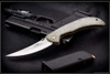 Ernest Emerson Persian Tactical Folder - Green Canvas Micarta - Satin Blade & Hardware - PTACSF