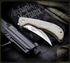Ernest Emerson Persian Tactical Folder - Green Canvas Micarta - Satin Blade & Hardware - PTACSF