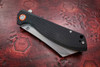 Artisan Cutlery: Tomahawk Liner Lock Knife Textured Black G-10